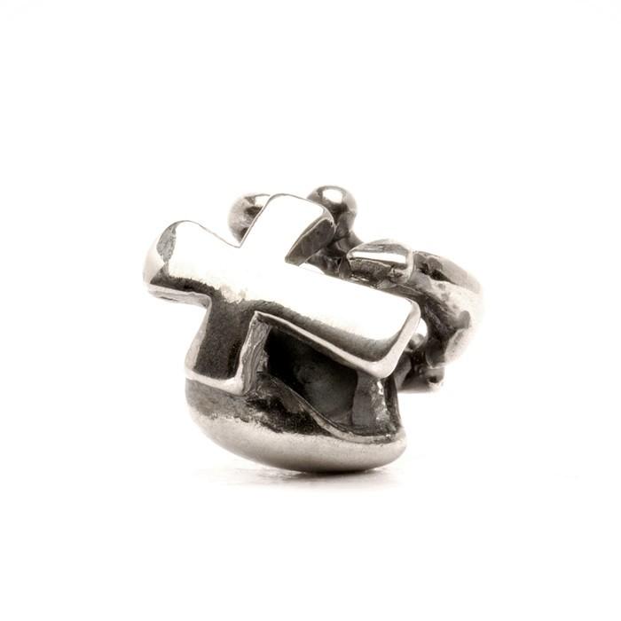 Faith, Hope & Charity Bead, Silver