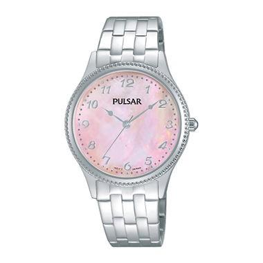 Pulsar Quartz Pink Dial Women's Watch