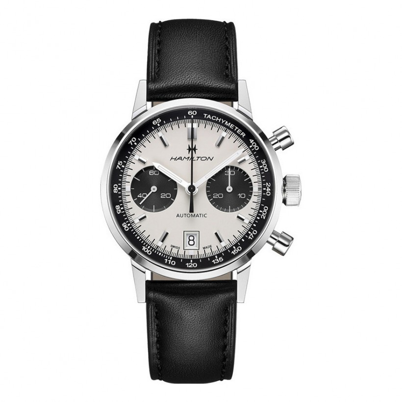 Hamilton Intra-Matic 68 Automatic Chronograph Panda Dial Watch