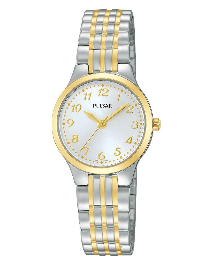 Pulsar Quartz Silver Dial Two-Tone Women's Watch