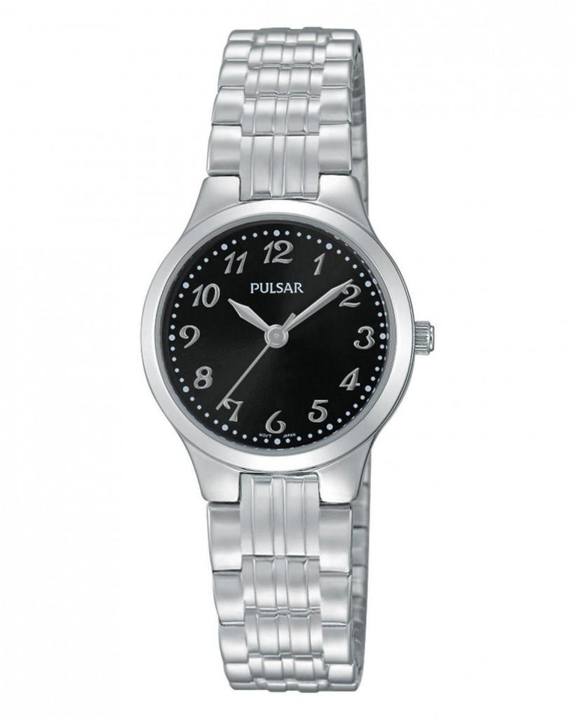 Pulsar Quartz Black Dial Women's Watch