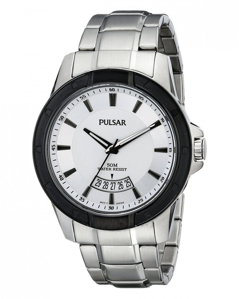 Pulsar Quartz White Dial Men's Watch