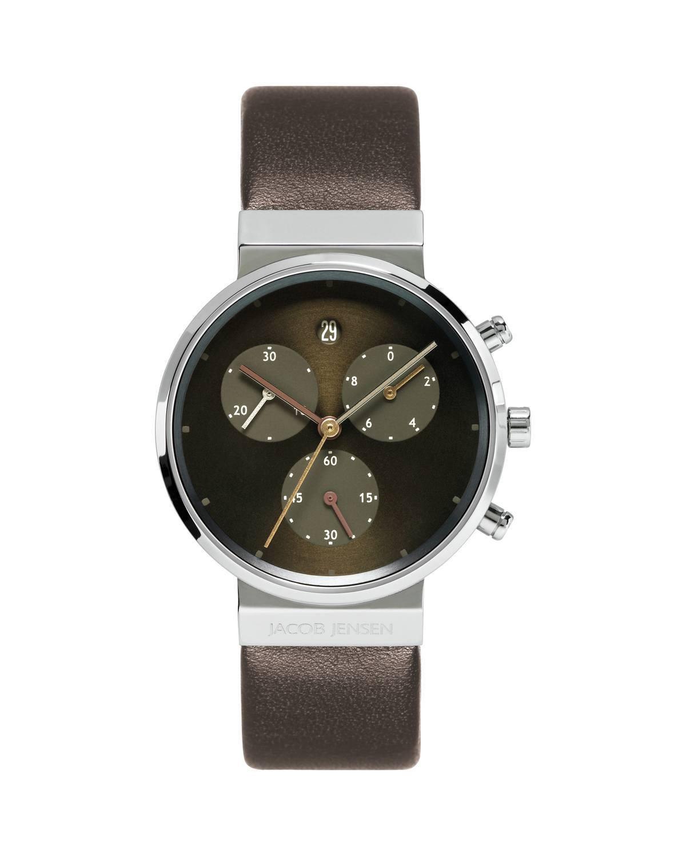 Jacob Jensen Chronograph Titanium Brown Dial Women S Watch 614