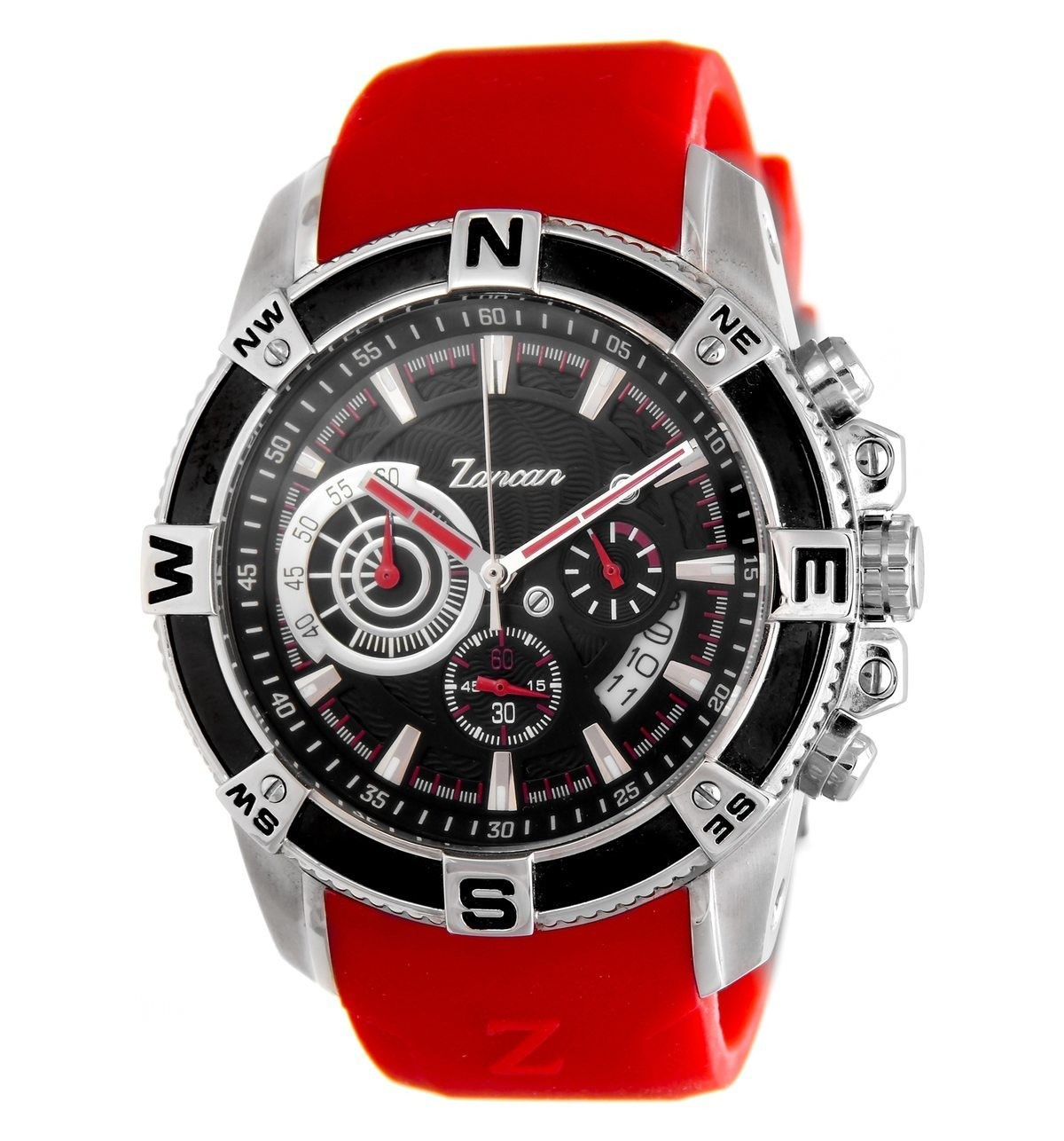 with stainless tommy steel en watch and rubber strap hilfiger watches red
