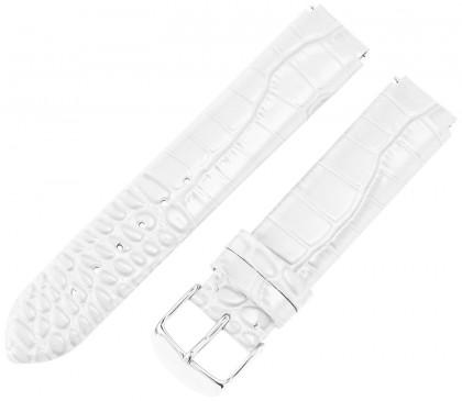 Philip Stein Leather Calfskin White Teju Watch Strap