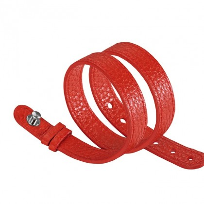 Philip Stein Red Leather Wraparound For Steel Icon