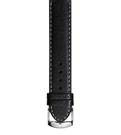 Black Stitch Calf Leather Strap
