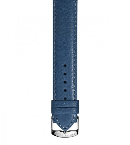Navy Stitch Calf Leather Strap