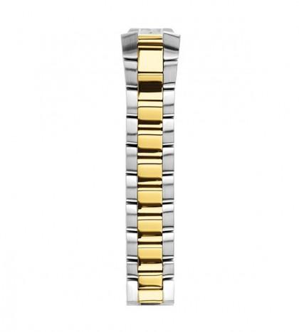 Two Tone Yellow Gold & Steel Bracelet