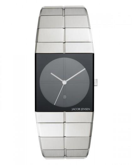 Jacob Jensen Icon Stainless Steel Black Dial Men's Watch