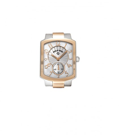 Philip Stein Classic Two Tone Rose Gold Plated Square Women's Watch