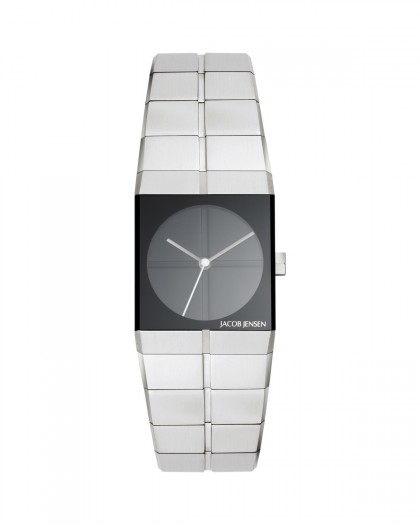 Jacob Jensen Icon Stainless Steel Black Dial Women's Watch