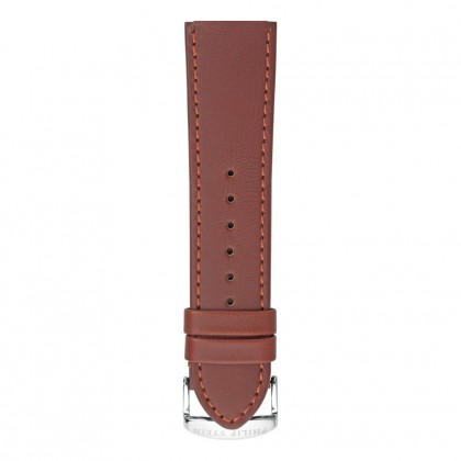 Philip Stein Brown Rugby Leather Stitched Strap