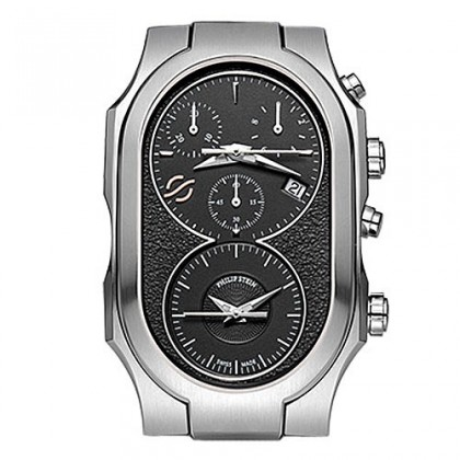 Philip Stein Large Signature Dark Grey Dial Watch
