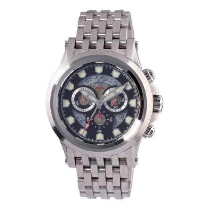 Reactor Einstein Chrono Stainless Bracelet Black Dial 40001