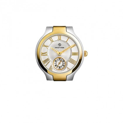 Philip Stein Two Tone Yellow Gold Classic Round Small Women's Watch