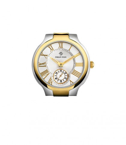 Philip Stein Two Tone Yellow Gold Classic Round Large Men's Watch