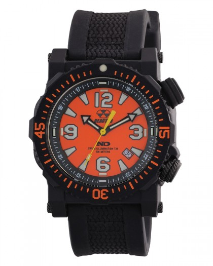 Reactor Titan Black Orange Men's Watch