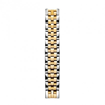 Philip Stein 5 Link Two Tone Yellow Gold Plated & Steel Watch Band