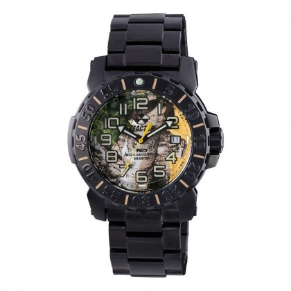 Reactor Trident 2 Day/Date Black Plated Realtree Dial Never Dark 50526