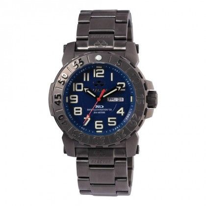 Reactor Trident 2 Day/Date Gunmetal Plated Navy Dial Never Dark 50603
