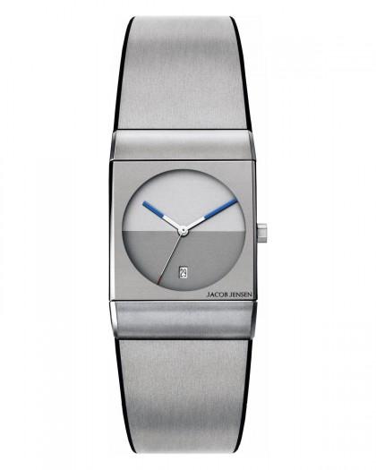 Jacob Jensen Classic Silver & Grey Titanium & Rubber Band Men's Watch