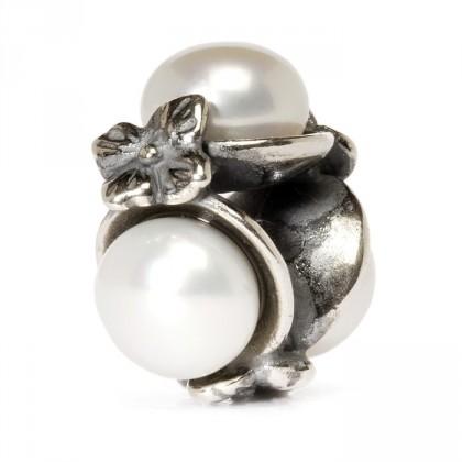 Trollbeads Triple Pearl Bead White