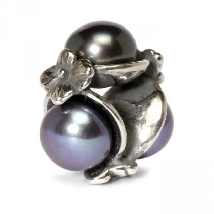 Trollbeads Triple Pearl Bead Black