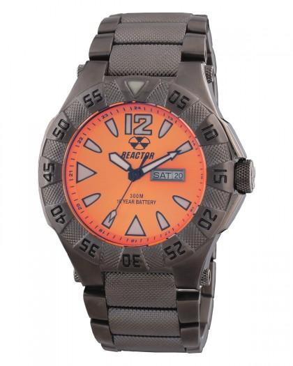Reactor Gamma Gunmetal Orange Men's Watch