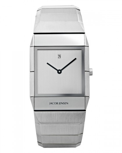 Jacob Jensen Sapphire Stainless Steel Silver Dial Men's Watch