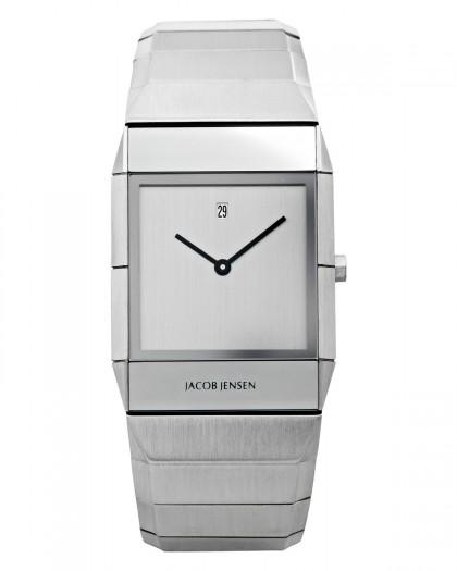 Jacob Jensen Sapphire Stainless Steel Silver Dial Men's Watch