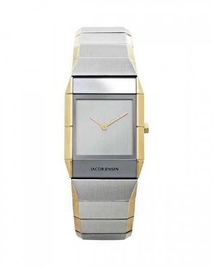Jacob Jensen Sapphire Two Tone Stainless Steel Silver Dial Women's Watch