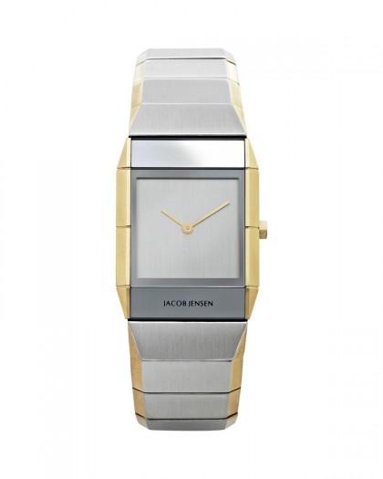 Jacob Jensen Sapphire Two Tone Stainless Steel Silver Dial Women's Watch