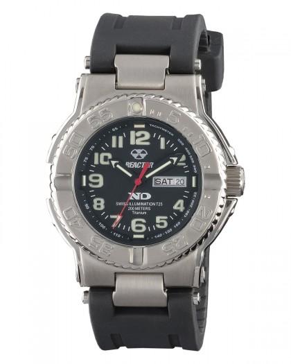 Reactor Trident Titanium Black Men's Watch