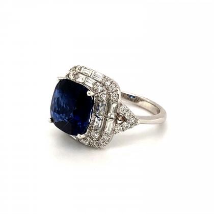 18K White Gold 5.17CT Kyanite 1.03CTW Diamond Ring