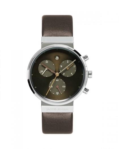 Jacob Jensen Chronograph Titanium Brown Dial Women's Watch