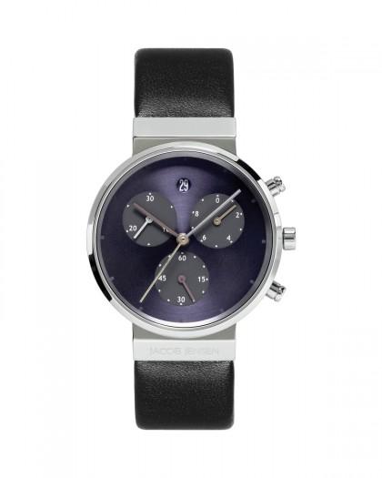 Jacob Jensen Chronograph Titanium Blue Dial Women's Watch 615