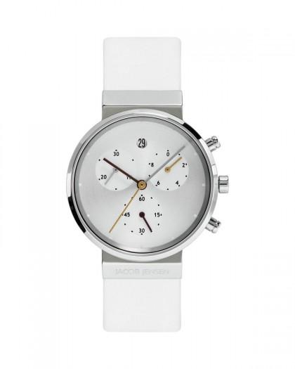 Jacob Jensen Chronograph Titanium Silver Dial Women's Watch