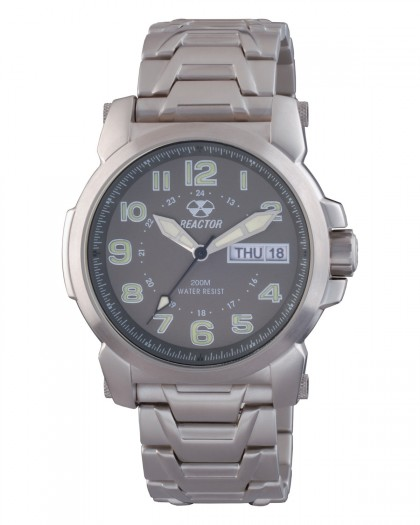 Reactor Atom Silver Grey Men's Watch