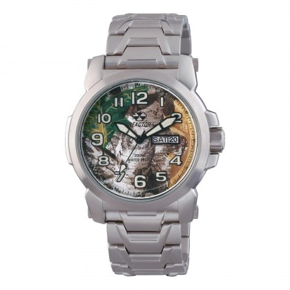 Reactor Atom Bracelet Day/Date Stainless Realtree Dial 68026