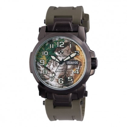 Reactor Atom Rubber Strap Day/Date Black Plated Realtree Dial 68909