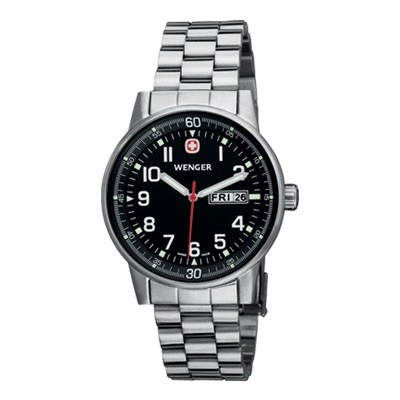 Wenger Commando Day Date XL Black Dial Bracelet 70163