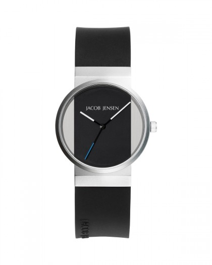 Jacob Jensen New Series Stainless Steel Black Dial Women's Watch