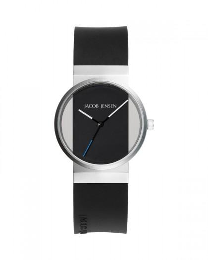 Jacob Jensen New Series Stainless Steel Black Dial Women's Watch