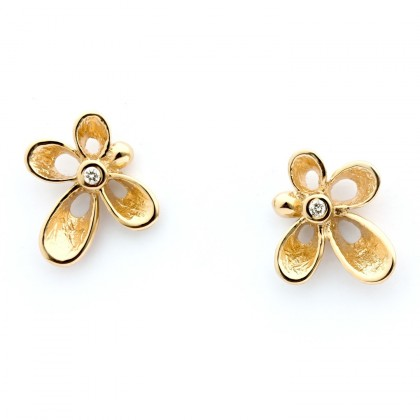 Violina Gold 0.02 CTW Earrings