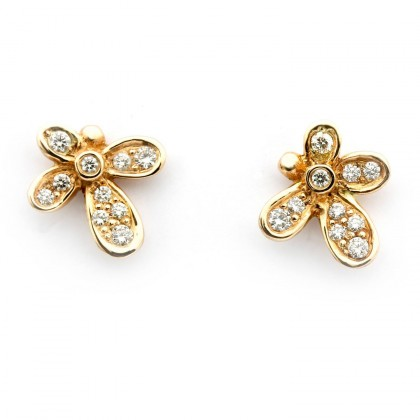 Violina Gold 0.22 CTW Earrings