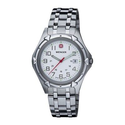 Wenger Standard Issue XL White Dial Bracelet