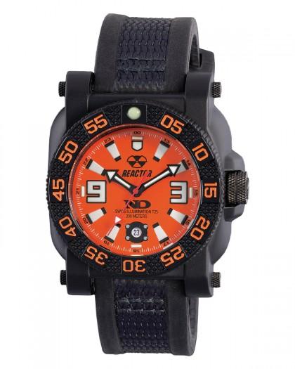 Reactor Gryphon Resin Black Orange Men's Watch