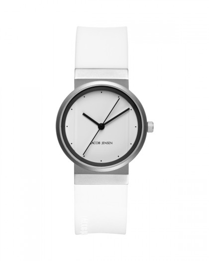Jacob Jensen New Series Stainless Steel White Dial Women's Watch