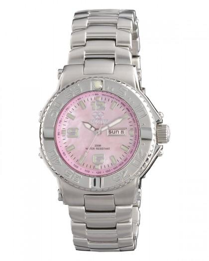 Reactor Critical Mass Silver Pink Women's Watch